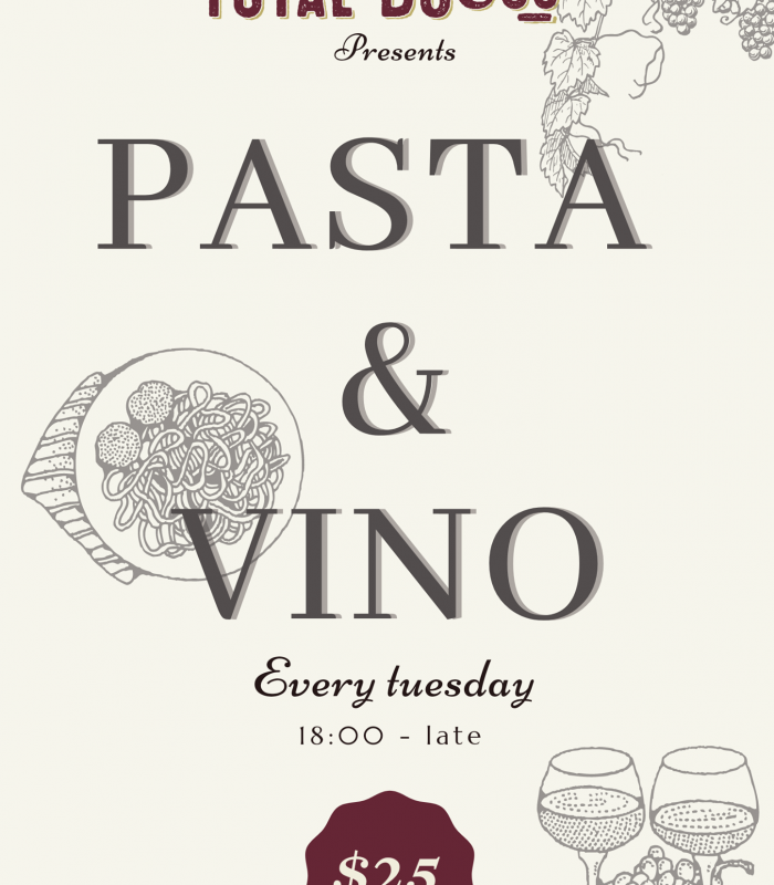 Introducing our new Tuesday evenings special: Pasta and Vino🍝🍷  Our special pasta for this week is Parpadelle🇮🇹 get yourself (and maybe your mate❤) a great meal + a glass of house wine for only $25pp! . . . .  Choose between:  🐃Beef Ragu Parpadelle 🧄Garlic Mushroom Parpadelle  And a glass of:  🍷House red House white House bubbles